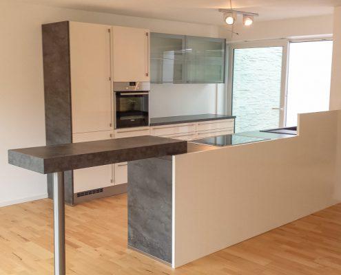 küche offen mit silgranitbecken